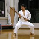 平野さん 棒基本 20111106昇段昇級審査