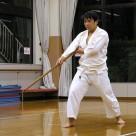 平野さん 周氏の棍(小)20111106昇段昇級審査